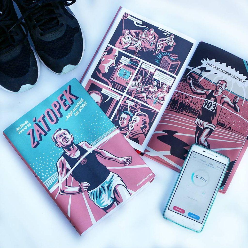 ZÁTOPEK....když nemůžeš, tak přidej! Geniální komiks z pera Jana Nováka a Jaromíra 99 #musthave #tochces @argo.cz @knihypaseka #komiks #comics #legend #athlete #runner #zatopek #curentlyreading #copravectu #ukazcoctes #newbook #booktip #bookstagram #instabook #booklover #bookaholic